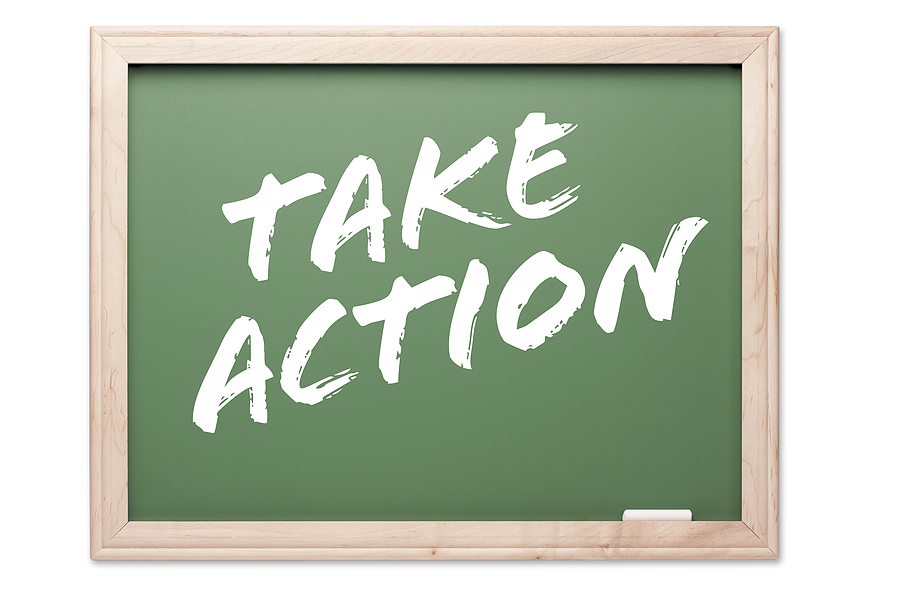 take action chalkboard